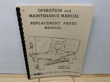 Doall C 6 Metal Cutting Band Saw Handbook Operation Amp Maintenance Manual