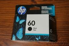 New Sealed Box Genuine OEM HP 60 Black Ink Cartridge HP CC640WN MAY 2016