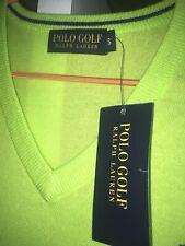 Para Hombre Ralph Lauren cuello en V Clásico Chaleco verde lima, PVP £ 140