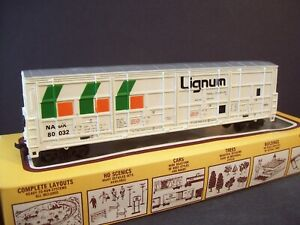 HO LIGNUM 54' Thrall Door Boxcar #80032 - exc. cond.
