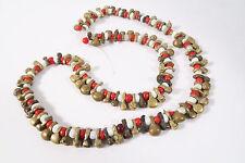 Vecchio Fulani rimorchio in ottone Brass Beads 53cm SMALL old brass pendants afrozip