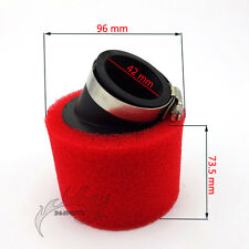 42mm Red Foam Air Filter Clearner For 125cc 140cc Pit Dirt Bike ATV Motorcycle