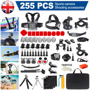 280Pcs/Kit GoPro Accessories Action Camera Accessory Chest Strap Head Mount Set