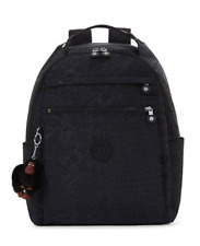 """Kipling Micah Medium 15"""" Laptop Backpack Black Croc Luggage Trolley Sleeve"""