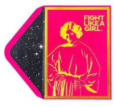 PAPYRUS STARWARS PRINCESS LEIA FIGHT LIKE A GIRL CARD BLANK ANY OCCASION