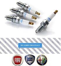 Kit 4 Candele Originali Fiat 55188857 DCPR7E-N-10 NGK per Grande Punto 500 Bravo