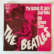 THE BEATLES-THE BALLAD OF JOHN AND YOKO-APPLE--AWESOME FIND-c1969-GERMAM-IMPORT