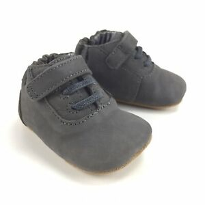 Robeez First Kicks Gray Leather Shoes - Size 0-3 Months