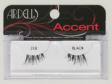 (LOT OF 10) Ardell ACCENT 318 HALF Lashes Authentic Ardell Eyelashes Black