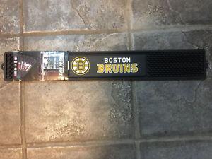 "FanMats NHL - Boston Bruins Drink Mat 3.25""x24"",   NEW"