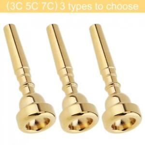 3C 5C 7C Gold Plated Copper Alloy Professional Trumpet Mouthpiece