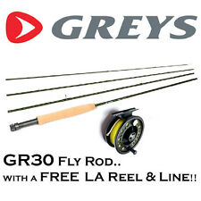 GREYS GR30 Fly Fishing Rod with FREE Loaded Fly Reel & Floating Line (RRP £139+)