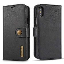 RFID-Blocking SLIM Genuine Leather Wallet Card Holder Case For iPhone X 8 7+