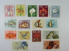 1973 South Africa  SC #408//23 FISH  FLOWERS  BIRDS  MNH stamps