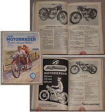 100 MOTORRÄDER in Wort und Bild München 1952 / Komplett mit Nachtrag