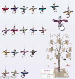 GENUINE Austrian Crystal Guardian Angel BIRTHSTONE Sun-catcher Hanging Charm UK