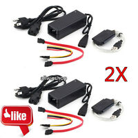2X USB 2.0 to IDE SATA S-ATA 2.5 3.5 HD HDD Hard Drive Adapter Converter Cable H
