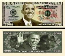 BARACK OBAMA - BILLET COMMEMORATIF DOLLAR - PRESIDENT US 2008/2016 Serie Million