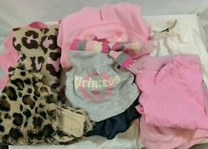 Lot of 9 Pieces of XS-S-M Girl Dog Clothes - Freshly Washed