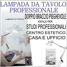 LAMPADA DA TAVOLO PROFESSIONALE BRACCIO PIEGHEVOLE PER CENTRO ESTETICO NAIL ART