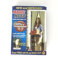 """Magic Mesh Hands-Free Screen Door As Seen On TV 83"""" x 39"""" New Stronger Magnets"""