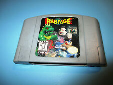 Rampage World Tour Nintendo 64 N64 Authentic Game