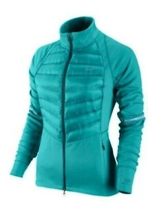 NIKE Aeroloft 800 Hybrid Dusty Cactus Fitted Down Running Jacket NEW Womens S