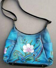 ANNA by Anuschka Blue Purse Shoulder Hobo Bag
