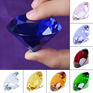 LONGWIN 50mm(2 inch) Crystal Diamond Paperweight Wedding Home Decor For Gift