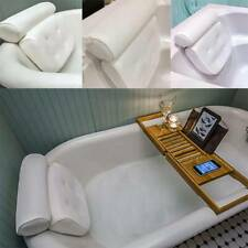 Bath Tub Pillows Neck Back Shoulder Premium Spa Cushion Waterproof Comfortable
