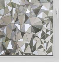 Frosted Privacy Window Film Decor Glass Geometric Self Adhesive Cover Sticker