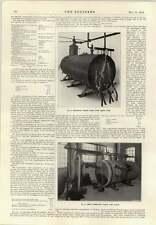 1914 Liquid Fuel Fired Boilers Bonecourt System