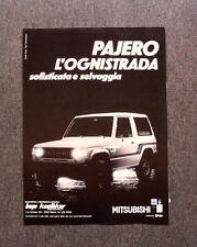 [GCG] L495 - Advertising Pubblicità -1984- PAJERO MITSUBISHI , L'OGNISTRADA