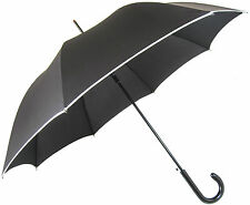 Cream Border Black Umbrella