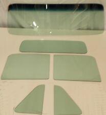 Green Tint Glass 1954 Chevy GMC Pickup Windshield Vent Door Back Set