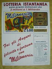 Locandina GRATTA E VINCI  - MILIONARIA    NUOVA
