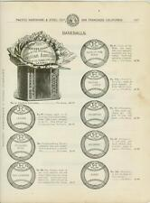 "Catalog Page Ad Baseballs""Cock of the Walk"" Baseball Bats""Louisville Slugger1902"