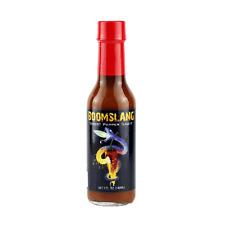 Mad Dog's Boomslang Ghost Pepper Hot Sauce, 5 oz bottle.