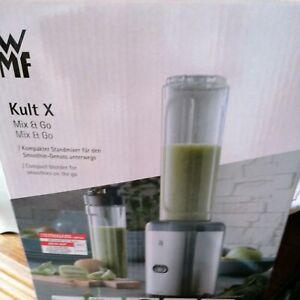 WMF Kult X Mix&Go Keep Cool Standmixer Smoothiemaker + Trinkflasche Mini 0,3 L