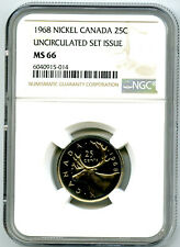 1968 CANADA 25 CENT CARIBOU QUARTER NGC MS66 UNCIRCULATED SET ISSUE