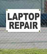 2x3 LAPTOP REPAIR Black & White Banner Sign NEW Discount Size & Price FREE SHIP