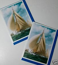 BLANK CARDS, FINE ART 'SHIPS', X 12, JUST 26p, WRAPPED (B392