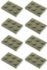 Missing Lego Brick 3021 OldDkGray x 8 Plate 3 x 2 with Hole