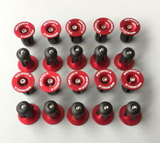 10* Road MTB Bike Aluminum Expander Handlebar Grips Bar top Cap End Plugs Red
