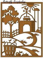 Fall Farm Barn Scene Die Craft Steel Die Cutting Die Cottage Cutz CCE-066 New