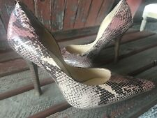 *pinK BRoWN SNaKeSKiN NEW 7.5 Pointy Toe CARRIE Stiletto Heels PUMPS GuESS