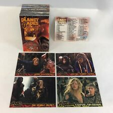 THE PLANET OF THE APES 2001 MOVIE Topps Complete 90 Card Set w/ MARK WALBURG