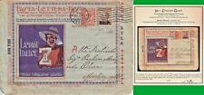 ITALY REGNO 1922-23 B L P LAMPADE ITAL Z Serie Sicilia n.5 con 40c + 10c CERTIF