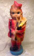 "VINTAGE Carnival Fair PRIZE Chalkware SCOTTISH GIRL DOLL BAG PIPE 14 1/2"""