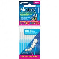 "�ƒ"" PIKSTERS INTERDENTAL BRUSH SIZE 5 PACK OF 10 REUSABLE FLOSS ALTERNATIVE BLUE"